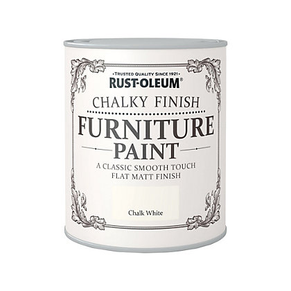 Image for Rust-Oleum Chalk White - Chalky Furniture Paint - 750ml from StoreName