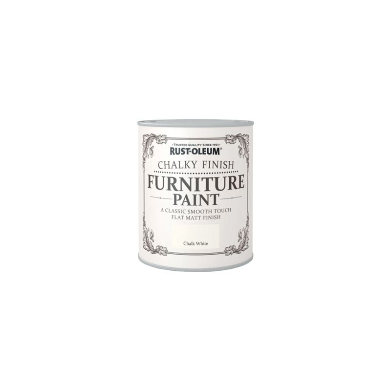 rust oleum furniture paint chalk white 125ml. Black Bedroom Furniture Sets. Home Design Ideas