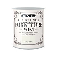 Rust Oleum Antique White Chalky Furniture Paint 750ml