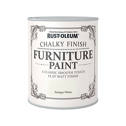 Image for Rust-Oleum Antique White - Chalky Furniture Paint - 750ml from StoreName