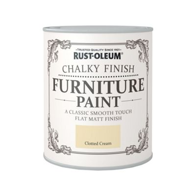 Rust-Oleum Clotted Cream - Chalky Furniture Paint - 750ml