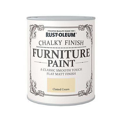 Image for Rust-Oleum Clotted Cream - Chalky Furniture Paint - 750ml from StoreName