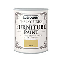 Rust-Oleum Mustard - Chalky Furniture Paint - 750ml