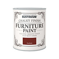 Rust-Oleum Fire Brick - Chalky Furniture Paint - 750ml