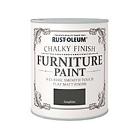 Rust-Oleum Graphite - Chalky Furniture Paint - 750ml