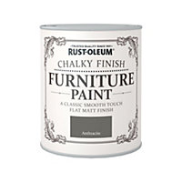 Rust-Oleum Anthracite - Chalky Furniture Paint - 750ml