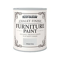 Rust-Oleum Winter Grey - Chalky Furniture Paint - 750ml