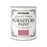 Rust-Oleum Dusky Pink - Chalky Furniture Paint - 750ml