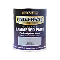Rust-Oleum Universal All Surface Paint Hammered Silver 750ml