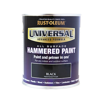 Image for Rust-Oleum Universal All Surface Paint Hammered Black 750ml from StoreName