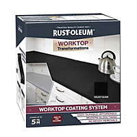 Rustoleum Kitchen Worktop Transformation - Black