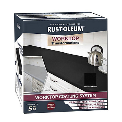 Image for Rustoleum Kitchen Worktop Transformation - Black from StoreName