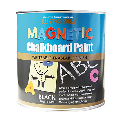 Image for Rust-Oleum Black - Magnetic Chalkboard Paint - 2.5L from StoreName
