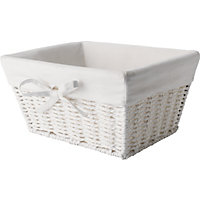 Bathroom Rope Basket - White