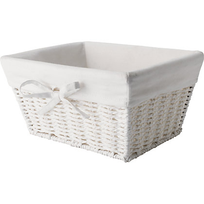 Bathroom Rope Basket White