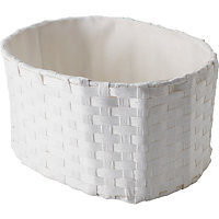 Bathroom Curved Basket - White