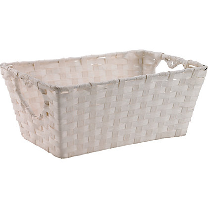 Image for Vintage Basket with Heart Handle - White from StoreName