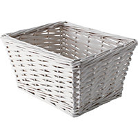 Bathroom Willow Seagrass Basket - White