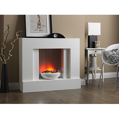 Katell Eclipse Floor Standing Electric Fire Suite