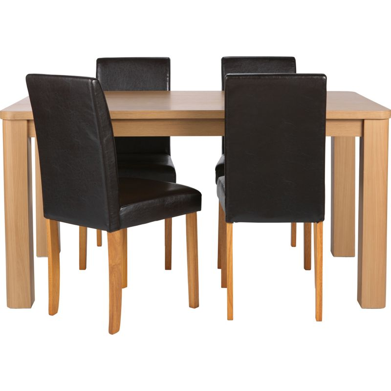 Oak table and chairs oak dining tables oak dining chair for Furniture zone thames