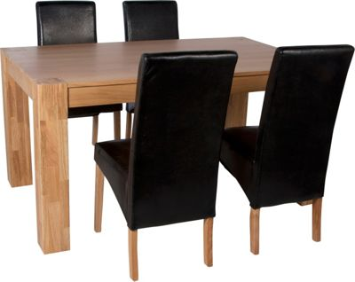 Raye Wooden Dining Table and 4 Dark Chairs Best Price from  : 298195RZ001largeampwid800amphei800 from www.247homechic.co.uk size 800 x 800 jpeg 41kB