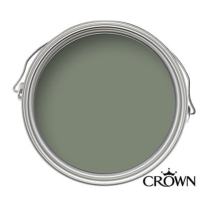 Image for Crown Fashion For Walls Tuscan Olive - Indulgence Matt Emulsion Paint - 125ml Tester from StoreName