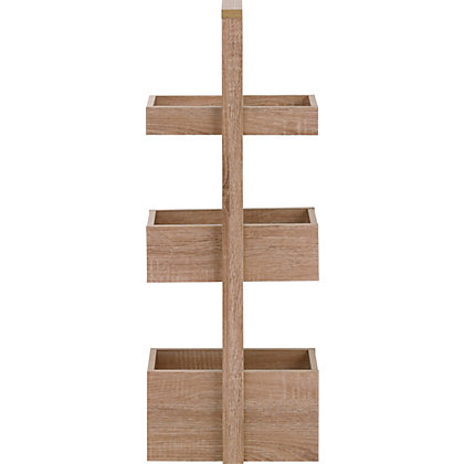 Image for Skydale 3 Tier Bathroom Caddy - Wood Grain from StoreName