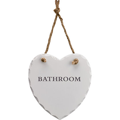 Image for Bathroom Decorative Heart Sign from StoreName