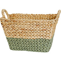 Large Storage Basket - Natural Green