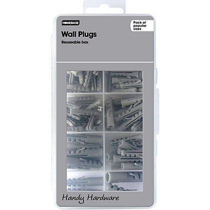 Image for Homebase Handy Hardware - Assorted Wall Plugs from StoreName