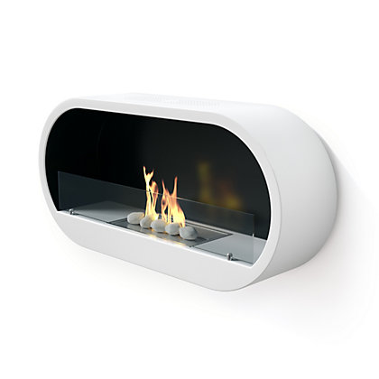 Image for Imagin White Marlow Bio Ethanol Fireplace from StoreName