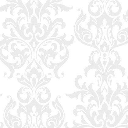 Superfresco easy paste the wall versailles wallpaper white for Simple elegant wallpaper