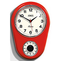 Jones The Timer Clock - Red