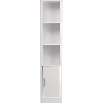 image for aliso tall boy bathroom cabinet white gloss from storename
