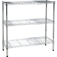Heavy Duty 3 Tier Metal Shelving Unit -