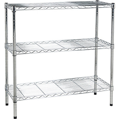 Image for Heavy Duty 3 Tier Metal Shelving Unit - from StoreName