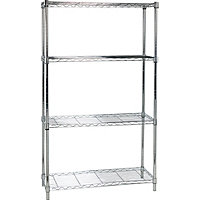 Heavy Duty 4 Tier Metal Shelving Unit -
