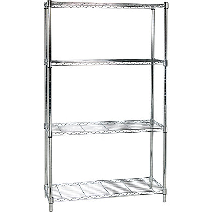 Image for Heavy Duty 4 Tier Metal Shelving Unit - from StoreName
