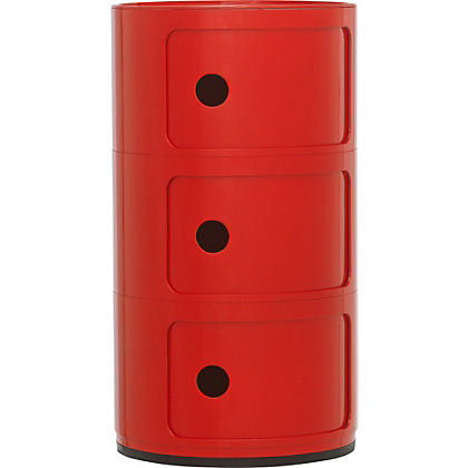 Image for Hygena Cylinder 3 Shelf Storage Unit - Red. from StoreName