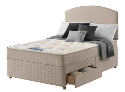 Sealy unwind backcare memory double 4 drawer divan bed at for Double divan bed with 4 drawers