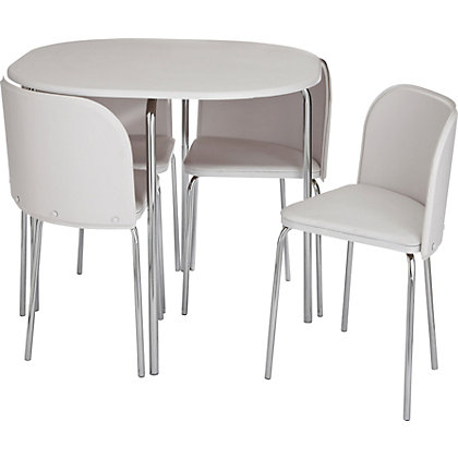 Dining Tables Chairs Dining Sets Hygena Amparo White Dining Table