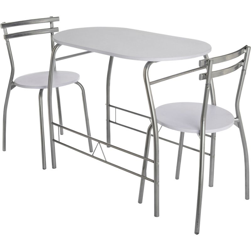 Vegas Dining Table And 2 Chairs White
