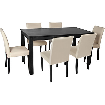 Furniture Dining tables & chairs Dining sets Elmdon Black 150cm Dining ...