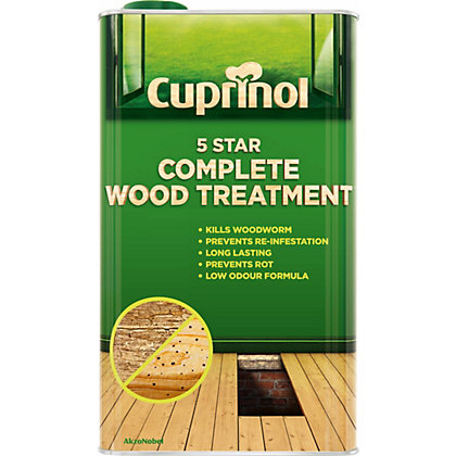 Cuprinol 5 star complete wood treatment clear 5l Cuprinol exterior wood preserver clear