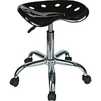 Gas Lift Office Stool - Black