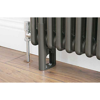 Image for Colonna 4 Column Radiator Feet - Dark Silver from StoreName