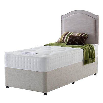Rest assured irvine 1400 pocket ortho single divan bed at for New single divan beds