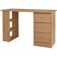 Malibu 3 Drawer Desk - Oak.