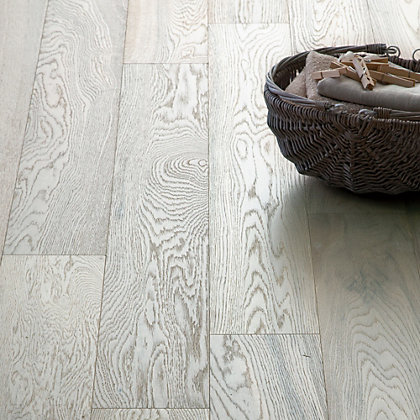 Image for Hygena Soft White Engineered Wood Flooring - 1.42 sq m from StoreName