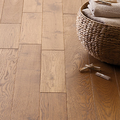 Antique sienna solid wood flooring collect in store for Real solid wood flooring